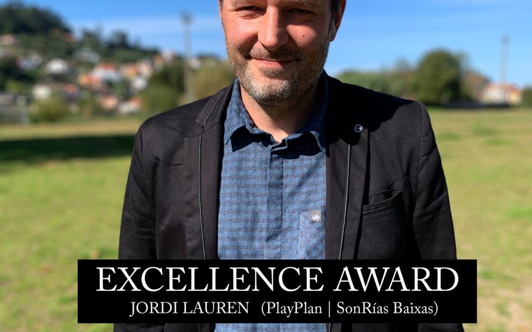 Jordi Lauren recibe o Premio á Excelencia dos Iberian Festivals Awards
